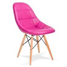 Krzesło EKO WOOD amarantowy T18 - ekoskóra, podstawa bukowa