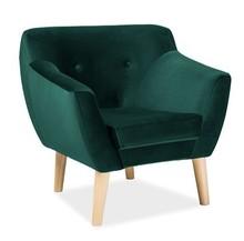 Fotel BERGEN 1 velvet - zielony Bluvel 78