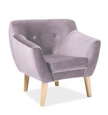 Fotel BERGEN 1 velvet - Bluvel 91