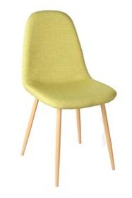 Cechy:  - Siedzisko wykonane z przyjemnej w dotyku tkaniny materiałowej - Podstawa metalowa imitująca drewno - Dostępny w 4 kolorach: czarny, beżowy,...
