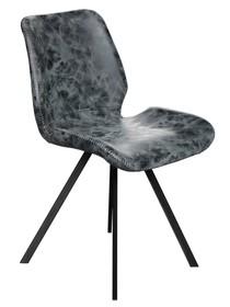 Cechy:  - Siedzisko wykonane z przyjemnej w dotyku czarno-szarej eko-skóry - Nogi metalowe, lakierowane na czarno - 2 lata gwarancji  Parametry...