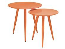 Zestaw stolików LEO - pomarańczowy