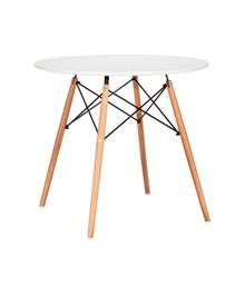 Stół DSW 90 - biały/drewno bukowe