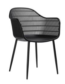 Krzesło BASKET ARM - czarny