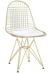 Krzesło DSR NET GOLD - biały