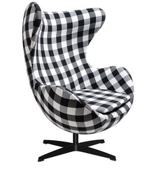 Fotel EGG CLASSIC BLACK tkanina - kratka