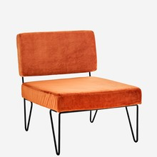 Aksamitny fotel tapicerowany (7J6576-24)
