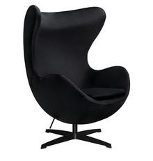 Fotel EGG CLASSIC VELVET BLACK - czarny