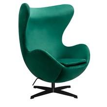Fotel EGG CLASSIC VELVET BLACK - zielony