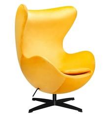 Fotel EGG CLASSIC VELVET BLACK - żółty