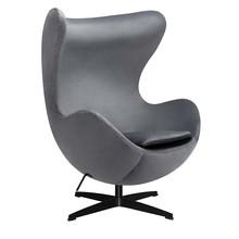 Fotel EGG CLASSIC VELVET BLACK - ciemny szary