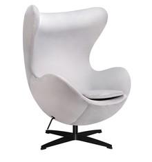 Fotel EGG CLASSIC VELVET BLACK - jasny szary