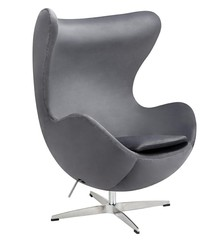 Fotel EGG CLASSIC VELVET - ciemny szary