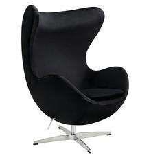 Fotel EGG CLASSIC VELVET - czarny