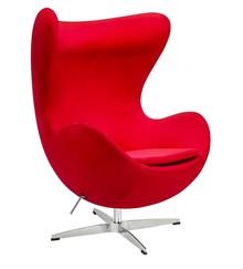 Fotel EGG CLASSIC VELVET - czerwony