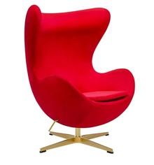 Fotel EGG CLASSIC VELVET GOLD - czerwony