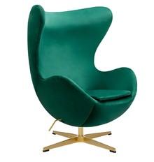 Fotel EGG CLASSIC VELVET GOLD - zielony
