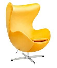 Fotel EGG CLASSIC VELVET - żółty