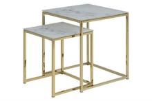 ACTONA zestaw stolików ALISMA marmur - szkło, metal