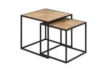 ACTONA zestaw stolików ORTIZ - drewno pawilonia, metal