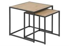 ACTONA zestaw stolików SEAFORD dąb - MDF, metal