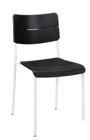 Krzesło RENE - czarny/biały