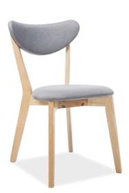 Krzesło BRANDO - dąb/szary