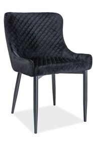 Krzesło COLIN B velvet - czarny Bluvel 19