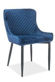 Krzesło COLIN B velvet - granatowy Bluvel 86