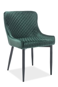 Krzesło COLIN B velvet - zielony Bluvel78