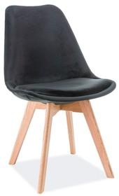 Krzesło DIOR velvet dąb - czarny