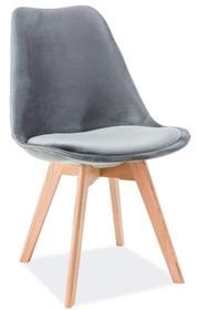 Krzesło DIOR velvet dąb - szary