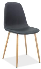 Krzesło FOX - dąb/czarny