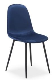 Krzesło FOX velvet - granatowy