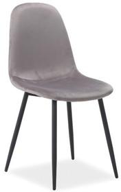 Krzesło FOX velvet - szary