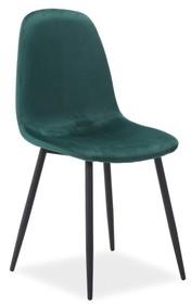 Krzesło FOX velvet - czarny/zielony