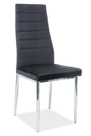Krzesło H-261 VELVET - czarny Bluvel19