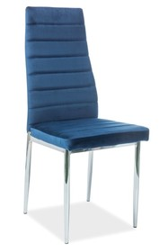 Krzesło H-261 VELVET - granatowy Bluvel 86