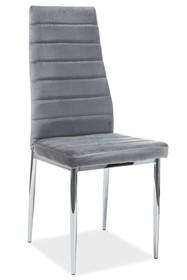 Krzesło H-261 VELVET - szary Bluvel14