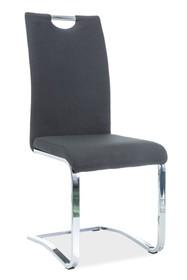 Krzesło H-790 tkanina - czarny