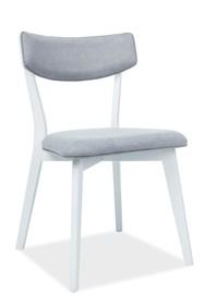 Krzesło KARL - biały/szary
