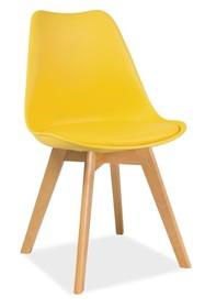 Krzesło KRIS buk - żółty
