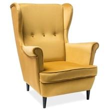 Fotel LORD velvet - żółty Bluvel 68