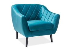 Fotel MOLLY 1 velvet - turkusowy Bluvel 85