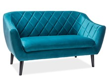 Sofa MOLLY 2 VELVET - turkusowy Bluvel 85
