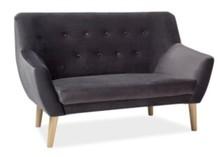 Sofa NORDIC 2 VELVET - szary Bluvel 14
