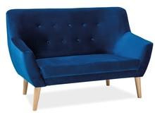 Sofa NORDIC 2 VELVET - granatowy Bluvel 86