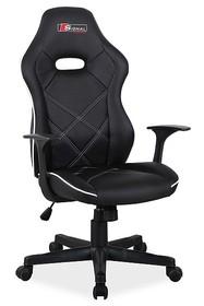 Fotel obrotowy BOXTER - czarny/biały