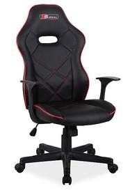 Fotel obrotowy BOXTER - czarny/czerwony