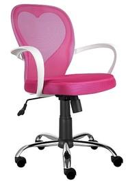 Fotel obrotowy DAISY - różowy